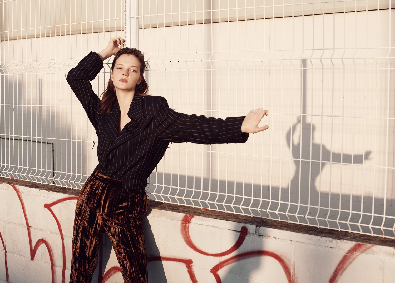 Zita Dobar in a Vogue Czechoslovakia editorial