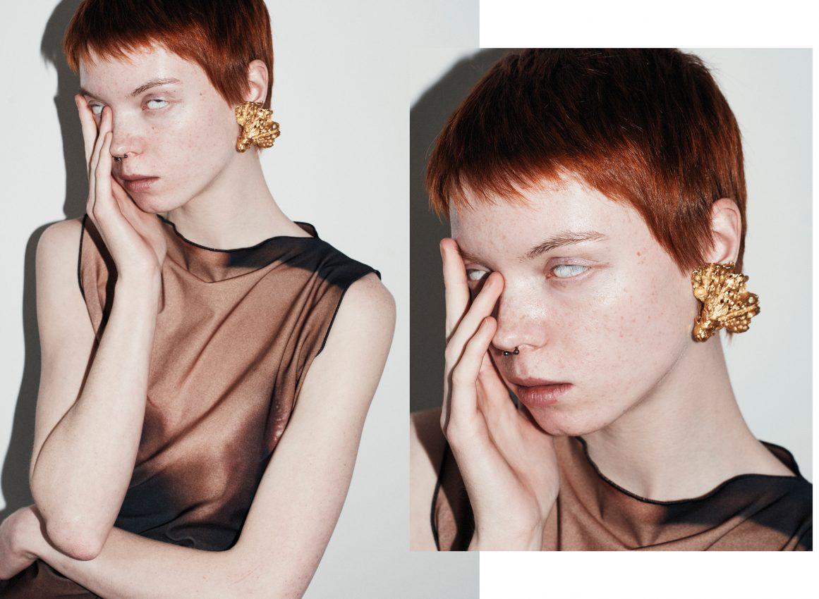 Colour portrait of fashion model Andra