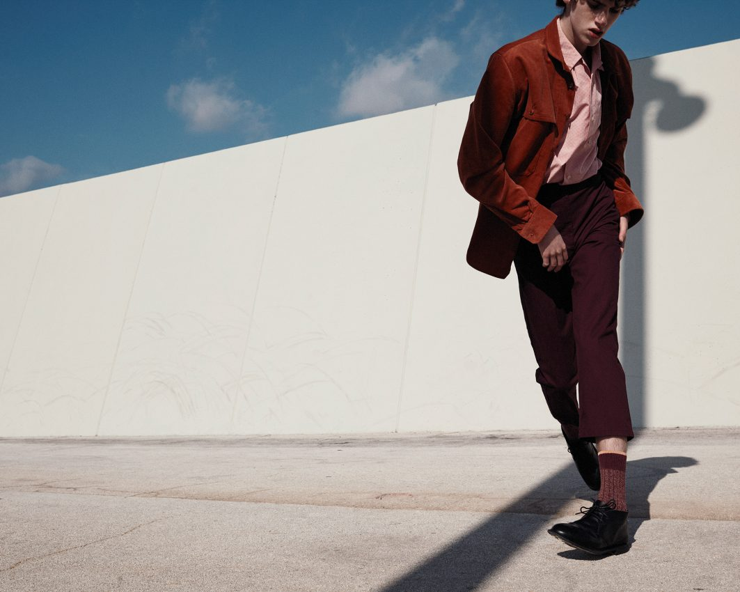 Editorial fashion image of model Cristian from Trend models