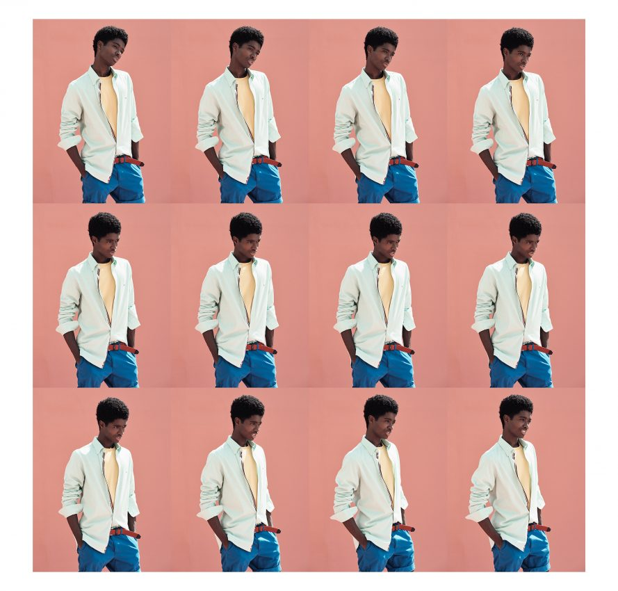 Image sequence of Alton Mason wearing Tommy Hilfiger