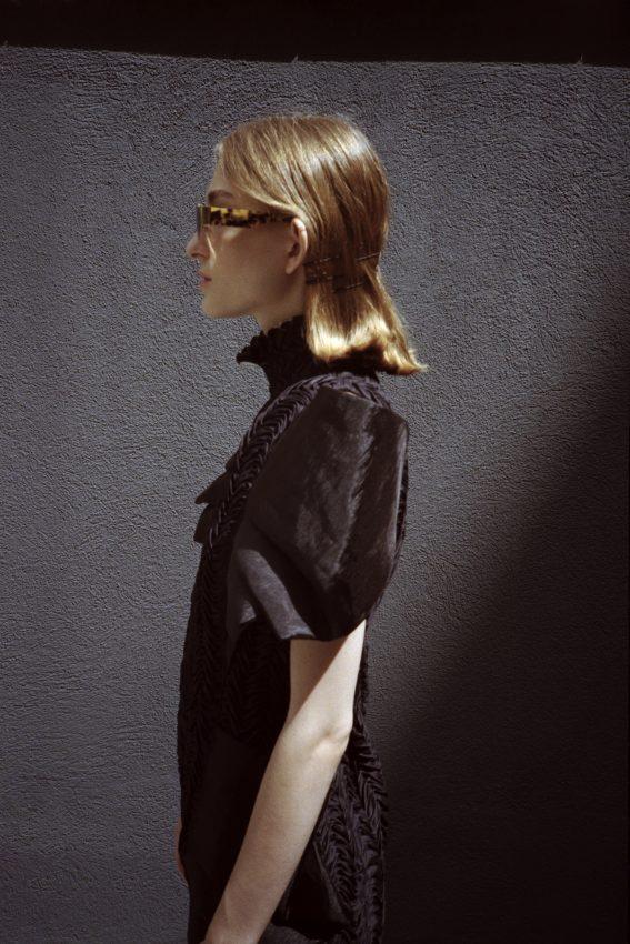 colour 35mm film photograph of model Nicole Moulds