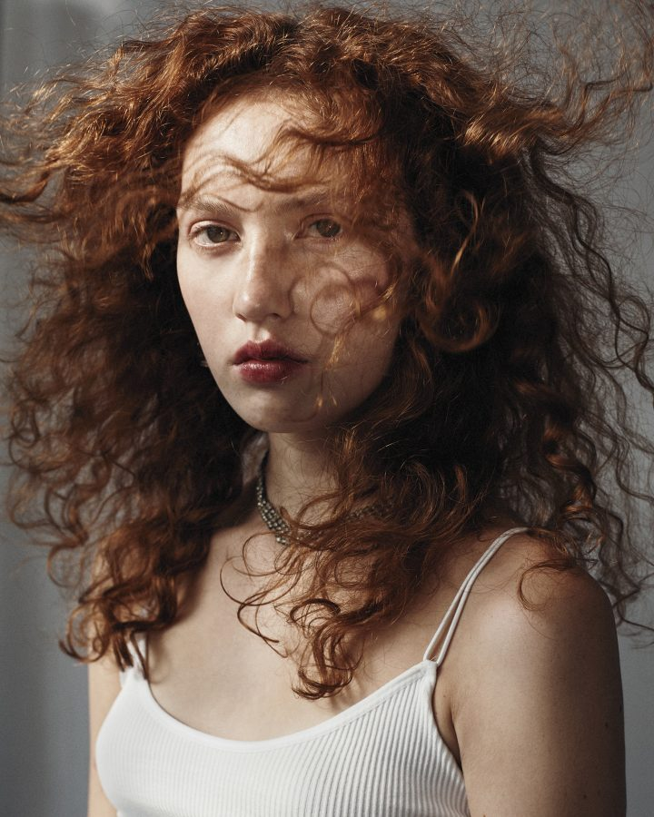 Colour photograph of model Connie Savill