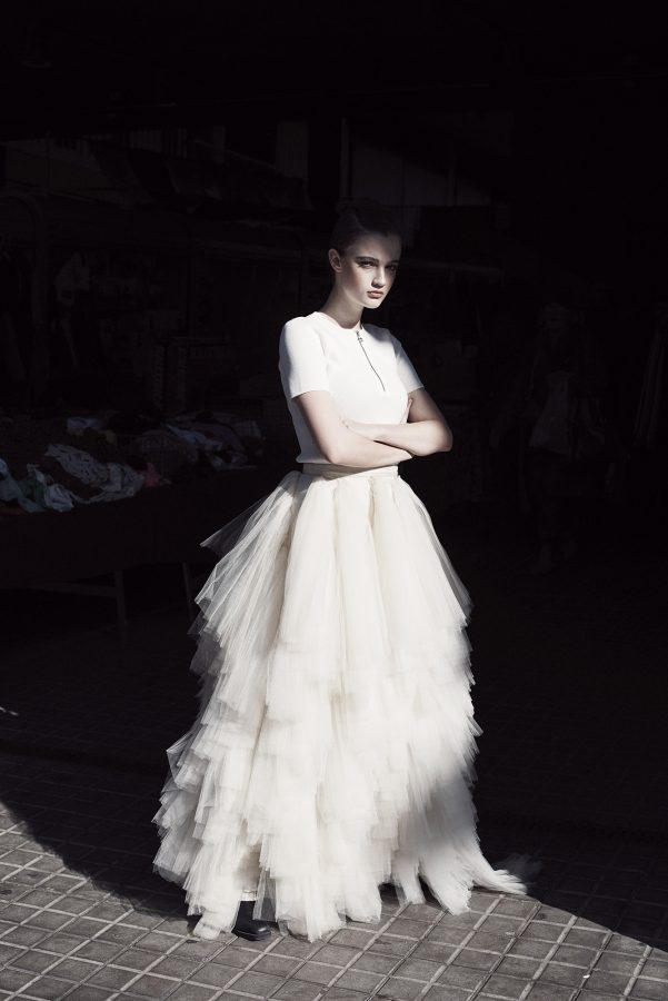 Roos Van Eendenburg in a fashion editorial