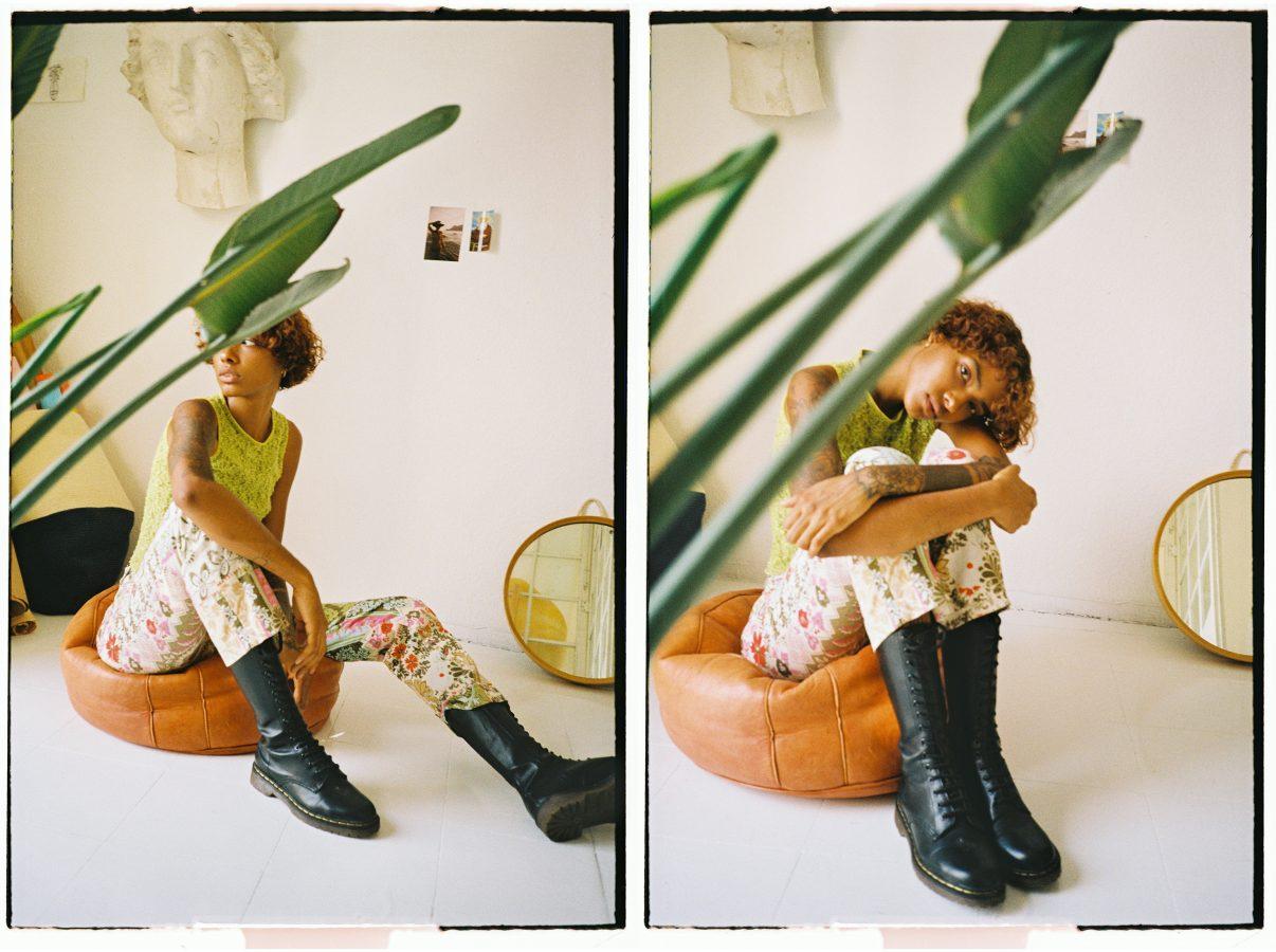 2 35mm film photographs of model Ramona Cuervo